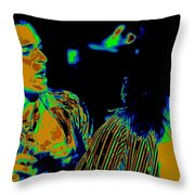 Vh #2 In Cosmicolors Throw Pillow
