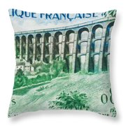 Viaduct Chaumont Haute-marne Throw Pillow