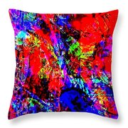 Vibrance Personified Into A Physical Object Throw Pillow