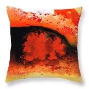 Vibrant Abstract Art - Leap Of Faith By Sharon Cummings Throw Pillow