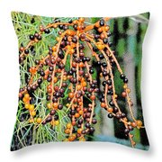 Vibrant Berries Throw Pillow