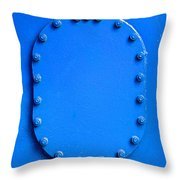 Vibrant Blue Cover Throw Pillow