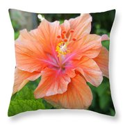 Vibrant Hibiscus Throw Pillow