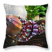 Vibrant Koi Throw Pillow