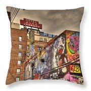Vibrant Lodging Throw Pillow