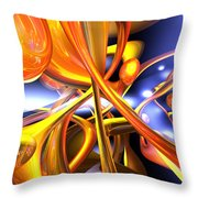 Vibrant Love Abstract Throw Pillow