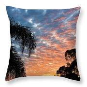 Vibrant Winter Sunset Throw Pillow