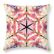Vibrations Of Light Throw Pillow