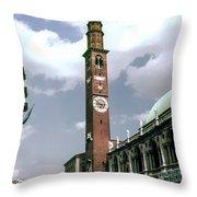 Vicenza Clock Tower Throw Pillow