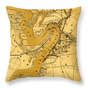 Vicksburg And Its Defenses Throw Pillow