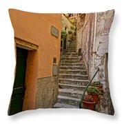 Vicolo Della Valle Riomaggiore Italy Dsc02537  Throw Pillow