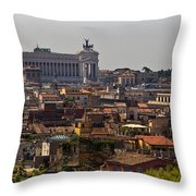 Victor Emmanuel Monument Throw Pillow
