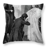 Victoria Accession, 1837 Throw Pillow