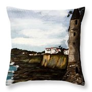 Victoria Beach Laguna Beach Throw Pillow