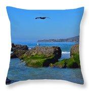 Victoria Beach Throw Pillow