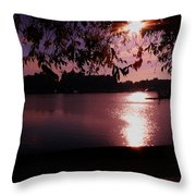 Victoria British Columbia Sunset Throw Pillow