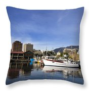 Victoria Dock Hobart Tasmania Throw Pillow