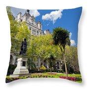 Victoria Embankment Gardens In London Uk Throw Pillow