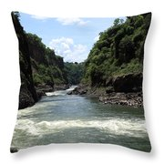 Victoria Falls Bridge - Zambia Throw Pillow
