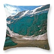 Victoria Glacier From Plain Of Six Glaciers In Banff Np-alberta Throw Pillow