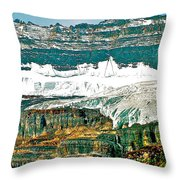 Victoria Glacier From Plain Of Six Glaciers Trail In Banff Np-ab Throw Pillow