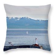 Victoria Harbor Throw Pillow