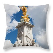 Victoria Memorial Next To Buckingham Palace London Uk Throw Pillow