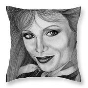 Victoria Principal In 1983 Throw Pillow