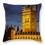 Victoria Tower - London Throw Pillow