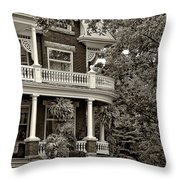 Victorian Classic Sepia Throw Pillow