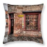 Victorian Corner Shop Throw Pillow