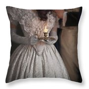 Victorian Couple By Candlelight Throw Pillow
