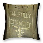 Victorian Dentist Sign Throw Pillow