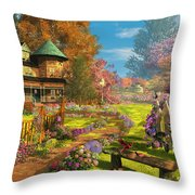 Victorian Dream Throw Pillow