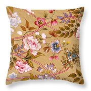 Victorian Floral Pattern Phone Case Throw Pillow