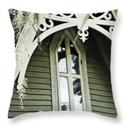 Victorian Gable St Francisville Louisiana Throw Pillow