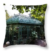 Victorian Greenhouse Throw Pillow