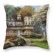 Victorian Home Throw Pillow