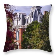 Victorian Home In Autumn Photograph As Gift For The Holidays Print Throw Pillow