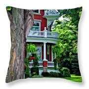Victorian Home Painted Version Throw Pillow