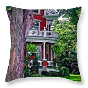Victorian Home Throw Pillow
