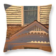 Victorian House Detail Throw Pillow
