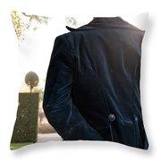 Victorian Man Throw Pillow