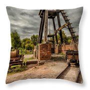 Victorian Mine Throw Pillow