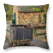 Victorian Mining Cart Throw Pillow