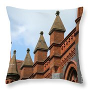 Victorian Orange Throw Pillow
