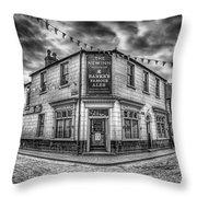 Victorian Pub Throw Pillow