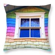 Victorian Rainbow Throw Pillow