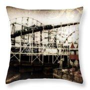 Victorian Roller Coaster Throw Pillow