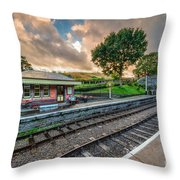 Victorian Station Throw Pillow
